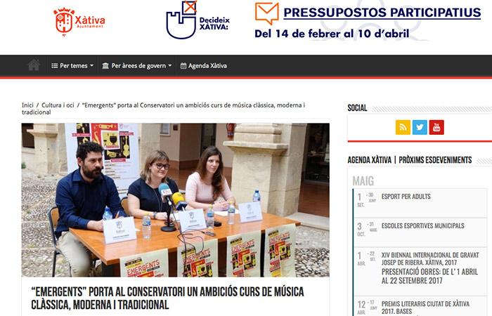 Emergents al Blog de l'Ajuntament de Xàtiva