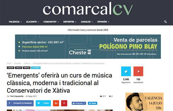 Notícia d'Emergents a Comarcal CV